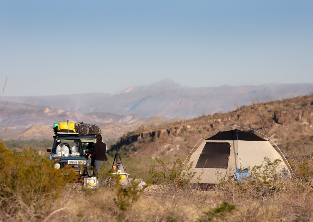 camp in Big Bend