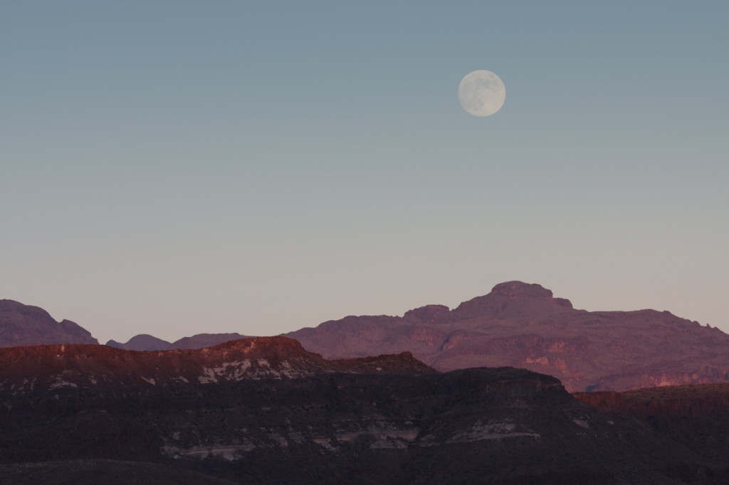 Moon over Big Bend